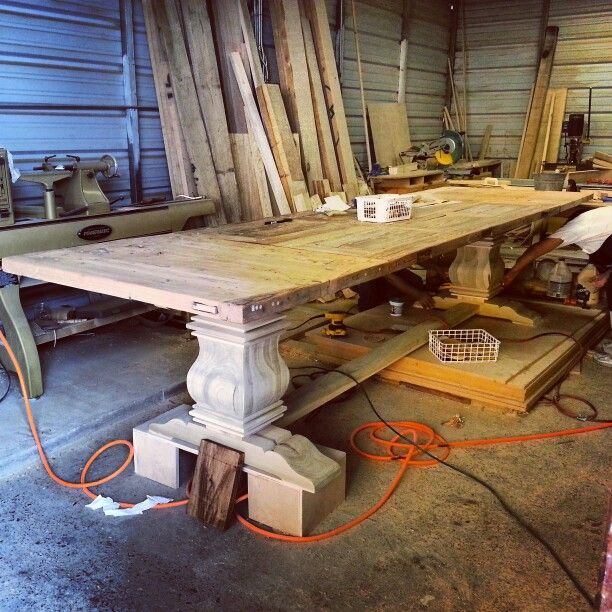 Creating A 12 Ft Farmhouse Dining Table Dining Table Farmhouse Dining Table Backyard Furniture
