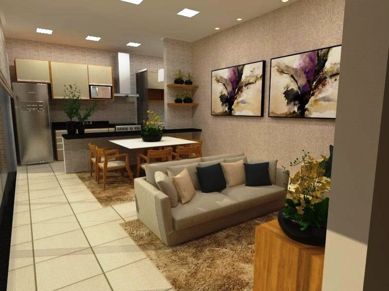 sala e cozinha com conceito aberto | Cozinha conceito aberto, Conceito aberto, Casa conceito aberto