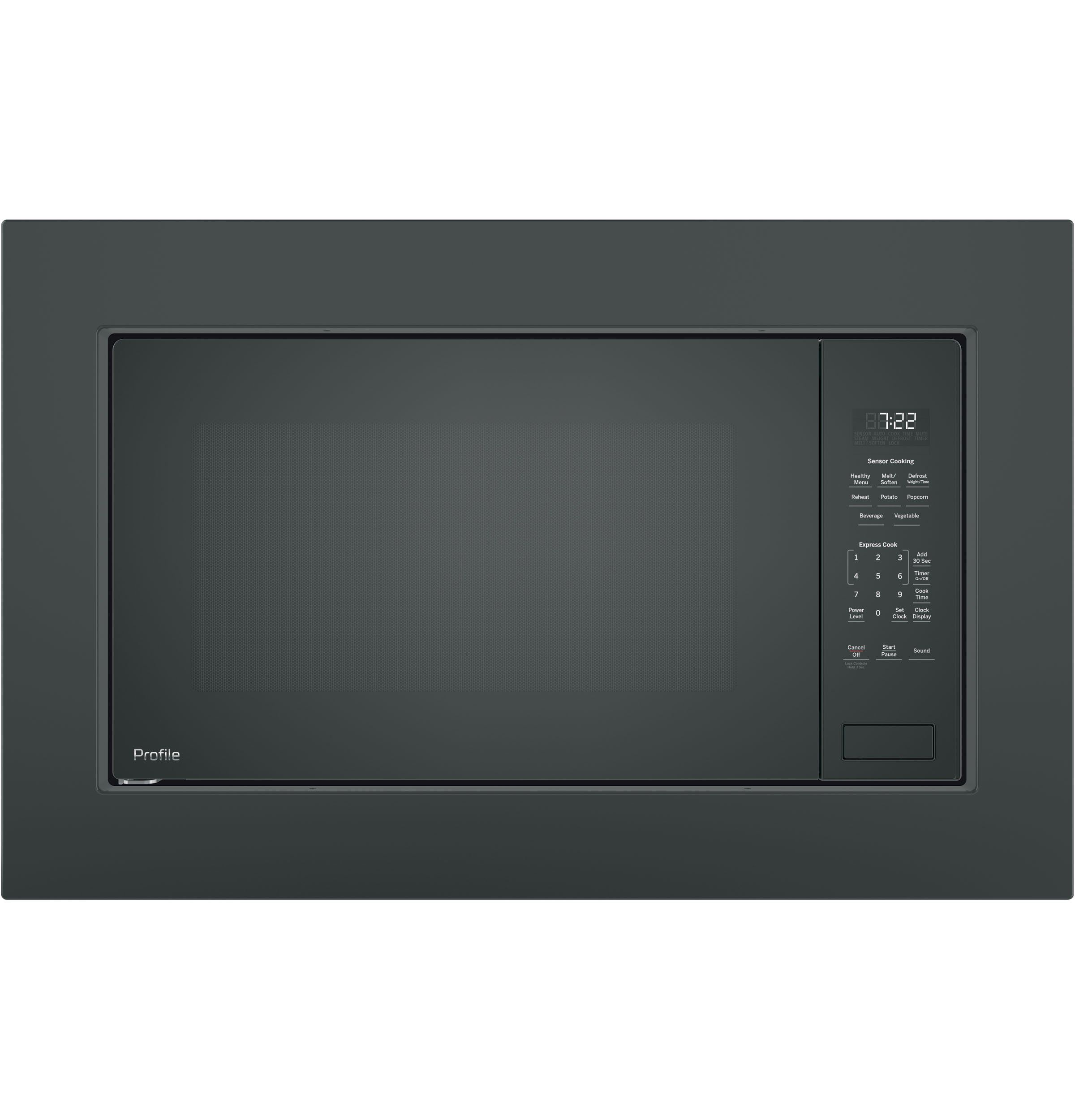Ge Profile Countertop Microwave 2 2 Cu Ft Black Stainless