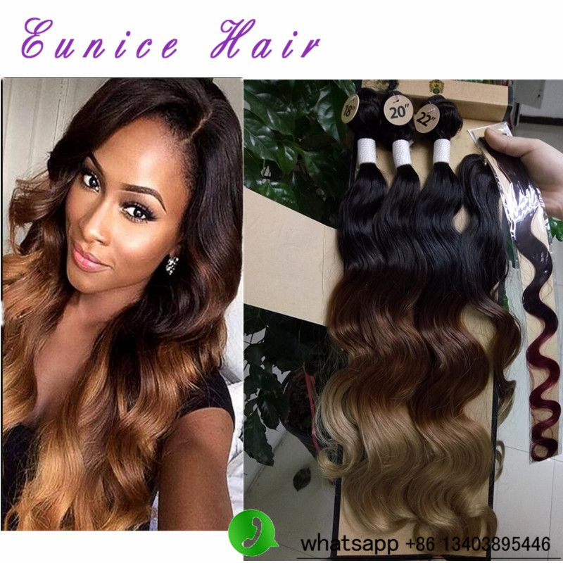 Brazilian Hair With Closure Two Tone Ombre Brazilian Body Wave Hair