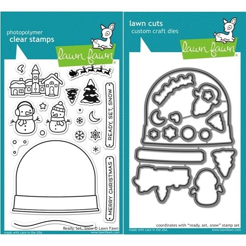 LF15SETRSS Embossing Folder Storage Lawn Fawn Simon Says Stamp Snow Globes Clear