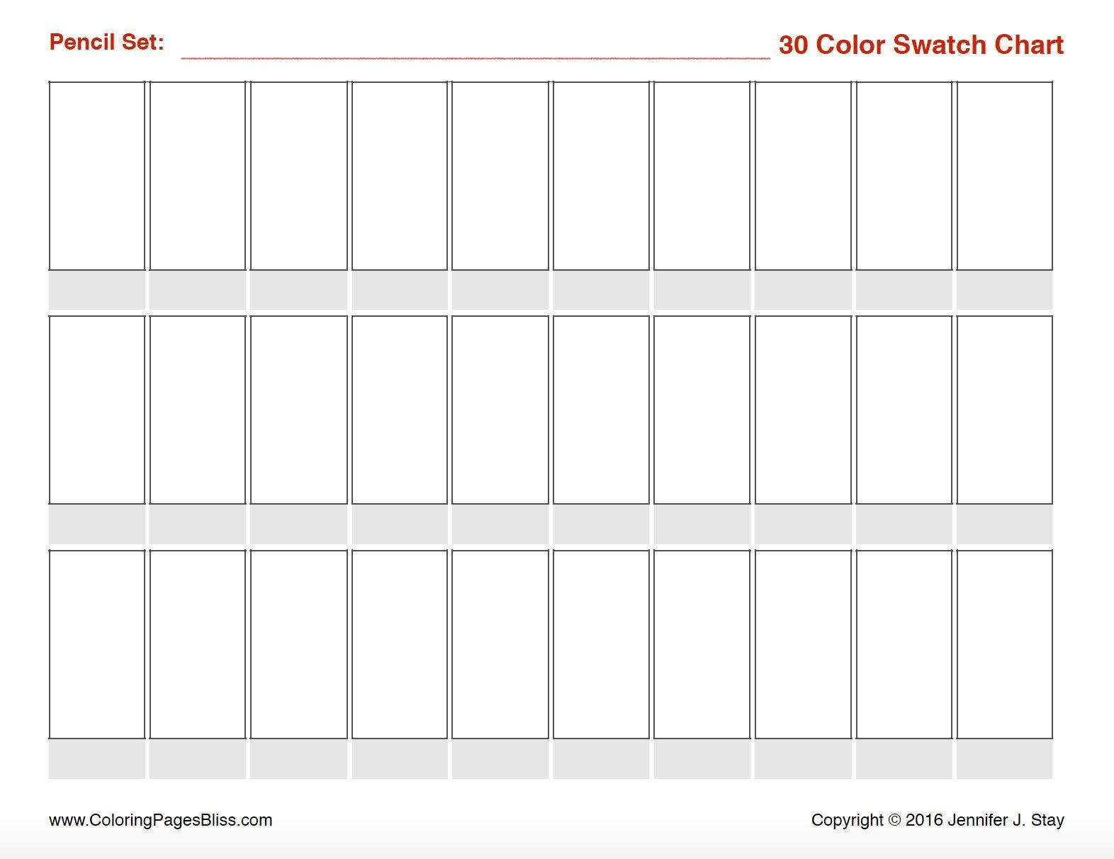 Prismacolor Premier Colored Pencil Swatch Charts Paint Color Swatches Colored Pencils Prismacolor