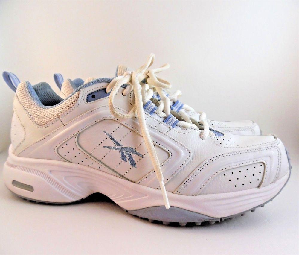 516be5d0cd8b66 REEBOK Running DMX Foam Women s Athletic Sneakers Leather White   Blue Size  9.5  Reebok  RunningShoes
