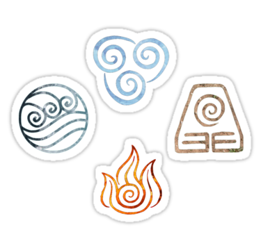 The Four Elements Avatar Symbols Sticker By Colferninja Elements Tattoo Element Symbols Symbols