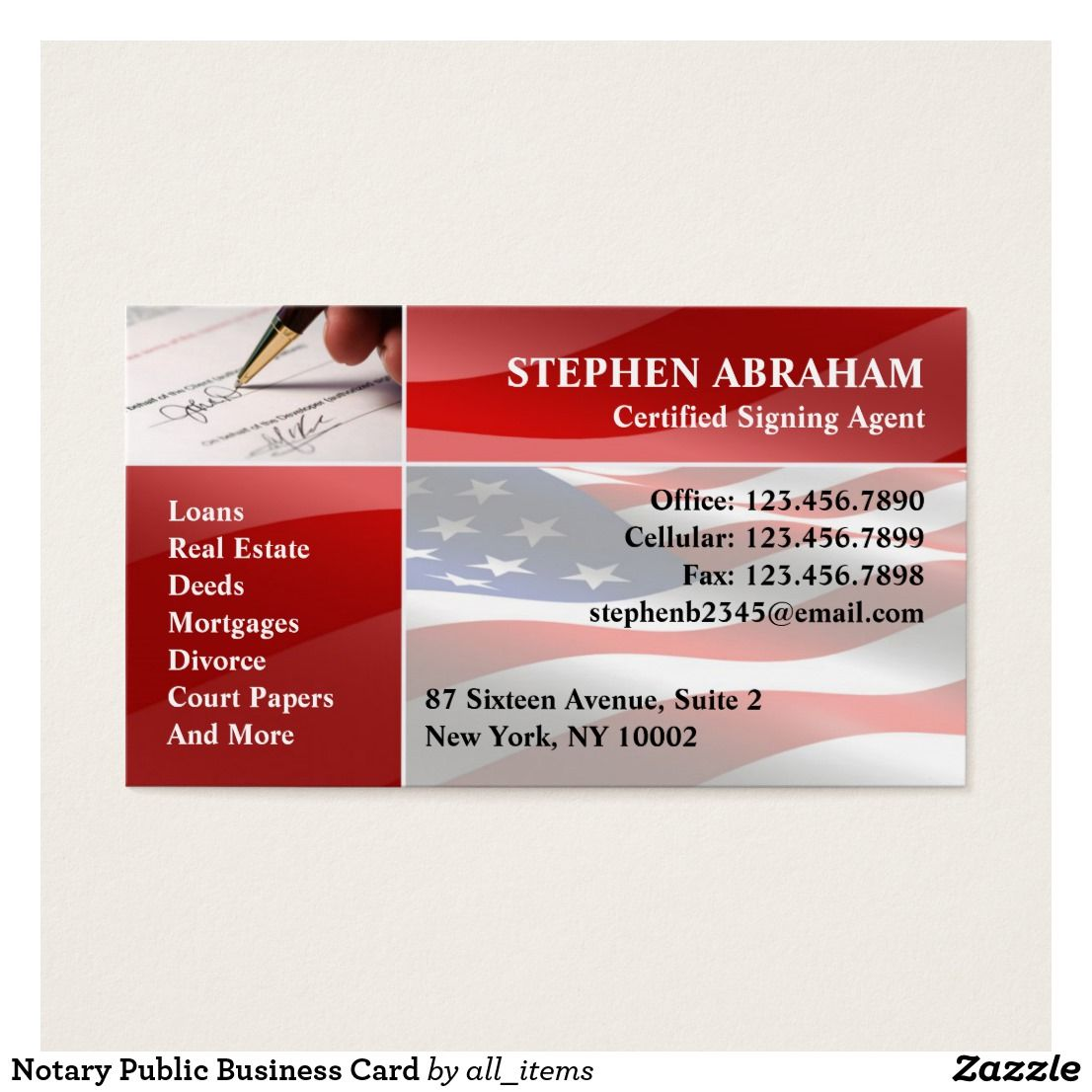 Notary Public Business Card Custom Check out more business card ...