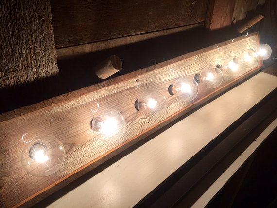 8 Bulb Rustic Country Barn Wood Bathroom Vanity By Woodsedge3