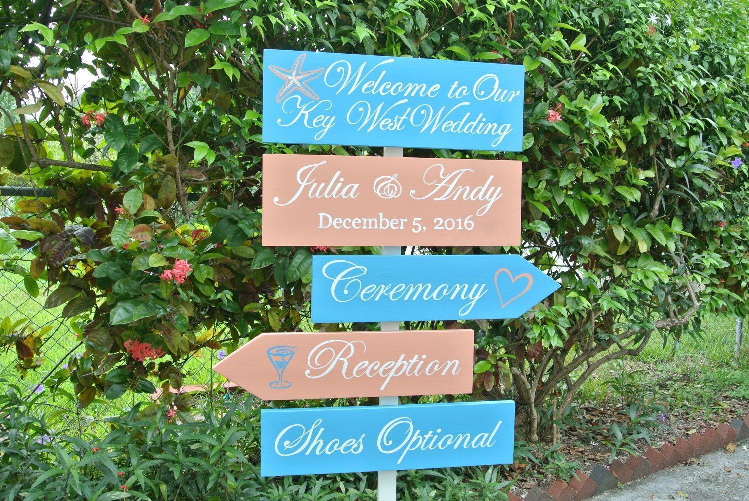 Welcome to our Wedding directional sign. Nautical beach wedding ...