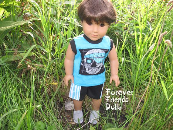 American Girl Doll Customized As OOAK Boy - Ian #boydollsincamo