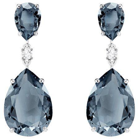 e2c300e5b Swarovski Vintage Blue Pear Dropper Earrings : 5424362, Metal Type ...