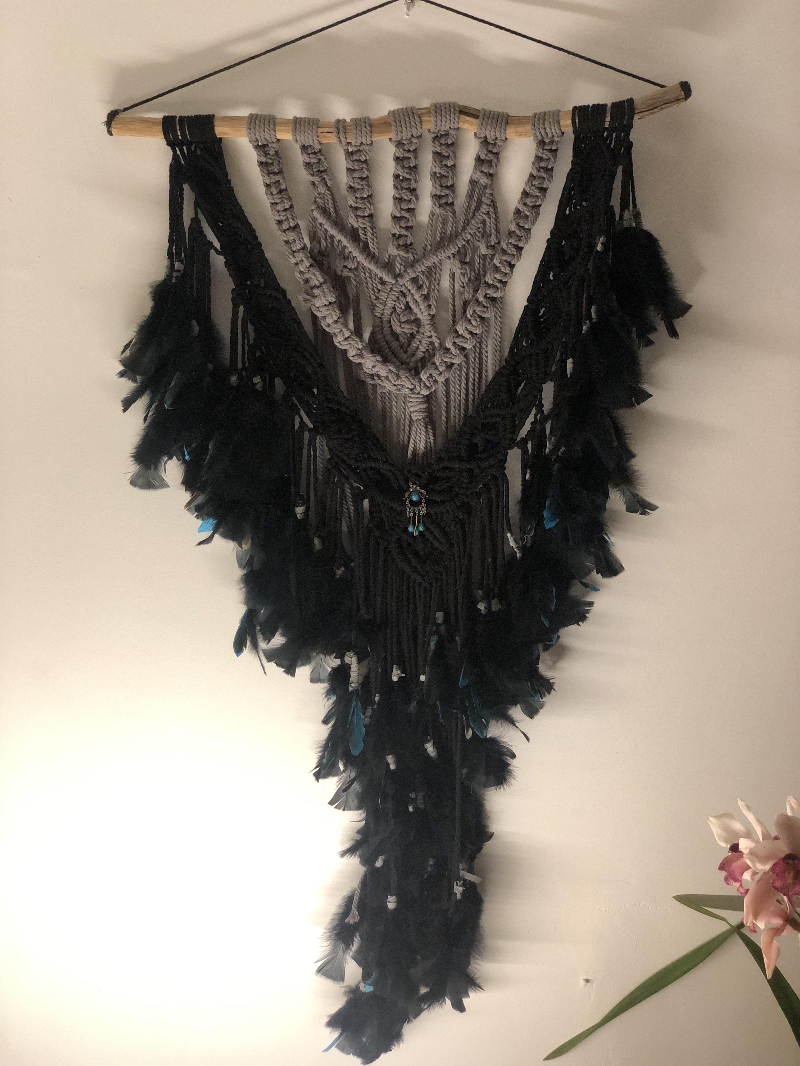 Stunning Macrame Wall Hanging Hand Crafted Gifts Kawaii Wallpaper Arts And Crafts