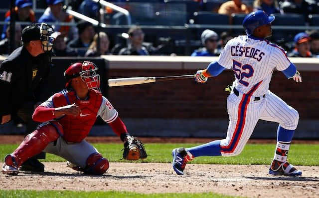 huge discount 29d62 06b27 Yoenis Cespedes in 1986 New York Mets throwback. | Baseball ...