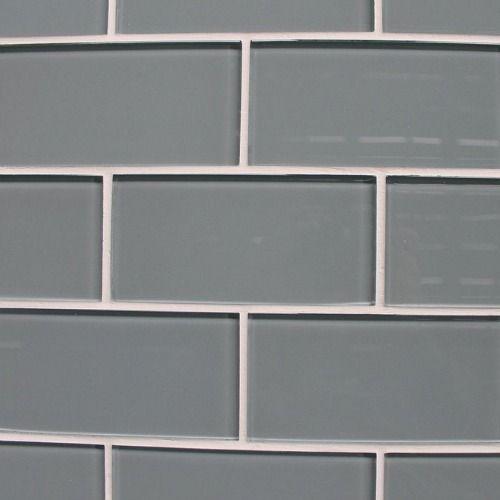 sample color swatch of chimney smoke light gray glass subway