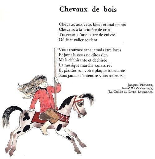 Chevaux De Bois Jacques Prevert Cheval De Bois Prevert Jacques Cheval