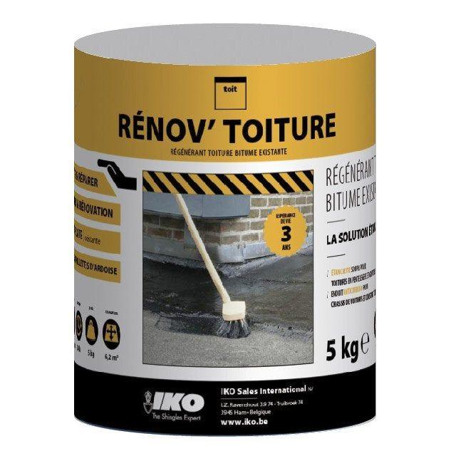 Régénérant Pour Toiture Iko Renovtoiture Bitume 5 Kg Noir