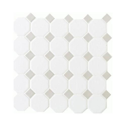 Octagon Floor Tile octagon floor tile Mohawk Octagon And Dot Mosaic Floor Or Wall Ceramic Tile 2 X 2 At