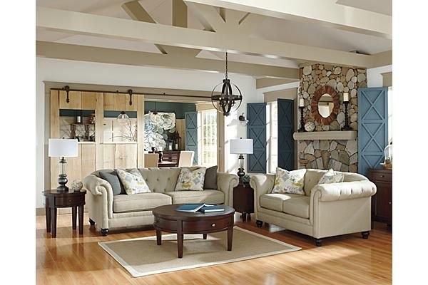 The Hindell Park Sofa From Ashley Furniture Homestore Afhs Com The Timeless Beauty Of Vintage Living Room Furniture Layout Living Room Sets Ashley Furniture