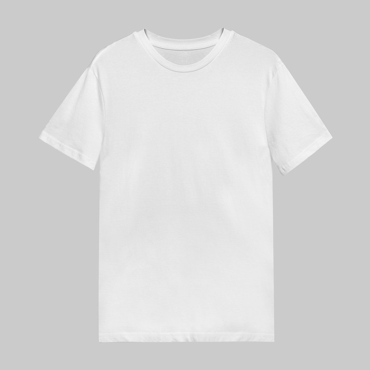 Download Download Premium Illustration Of White T Shirt Mockup On Gray Background Shirt Mockup Tshirt Mockup Tshirt Mockup Free