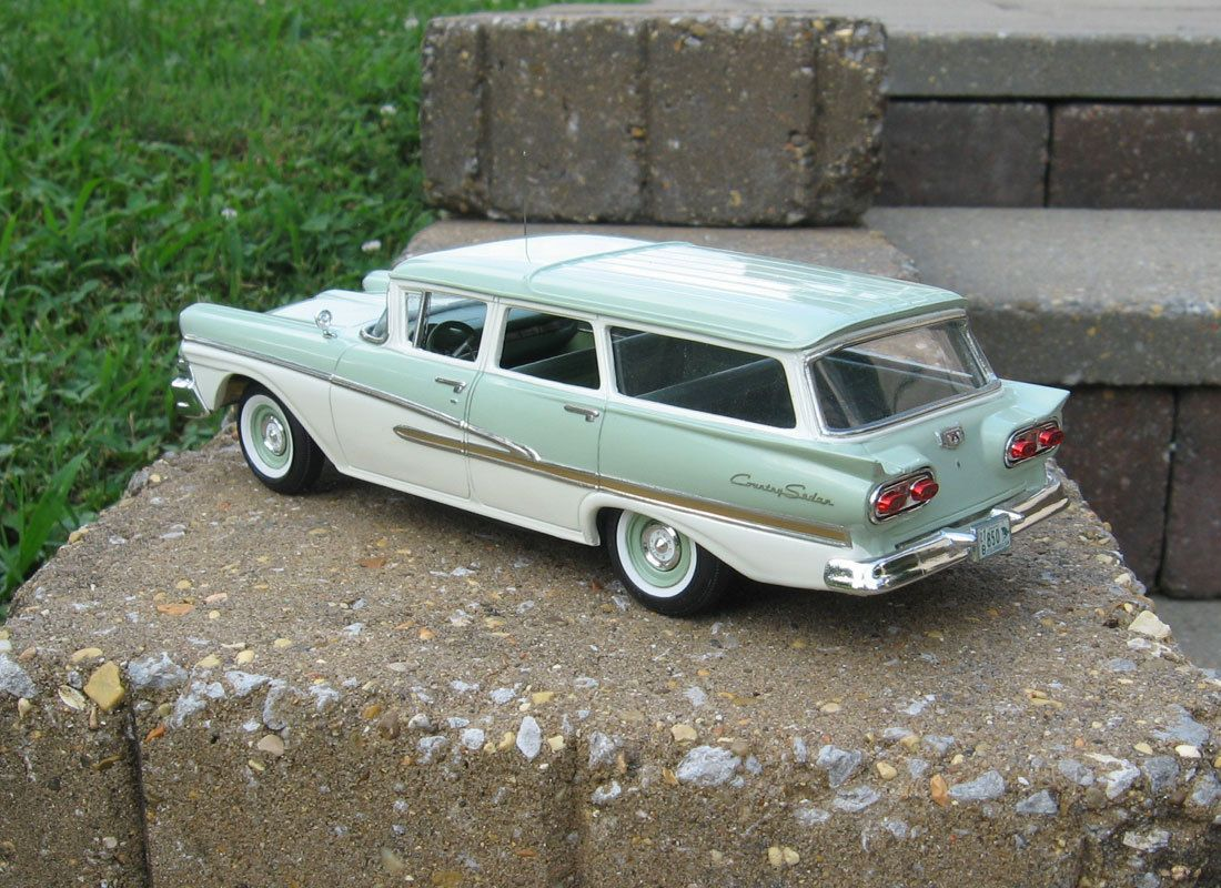 1958 ford country sedan r r vacuum resin kit modelhaus parts un built 1 25 ebay