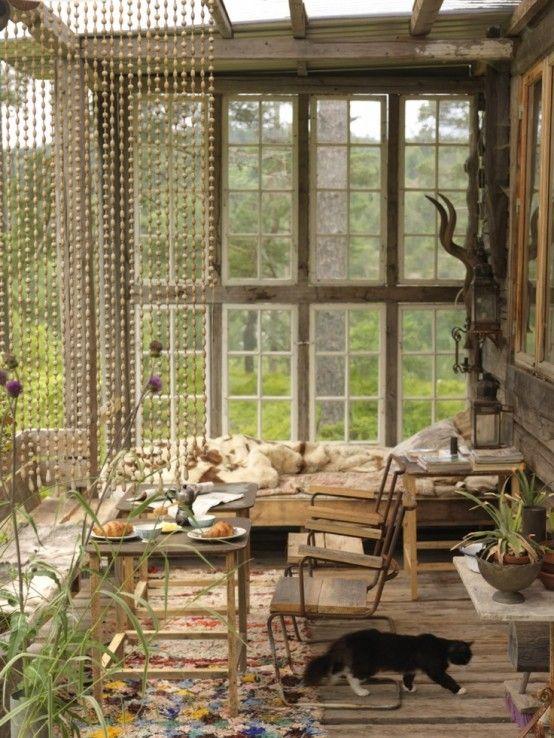16 wonderful bohemian sunroom decor ideas 11 - Patio Sunroom Ideas