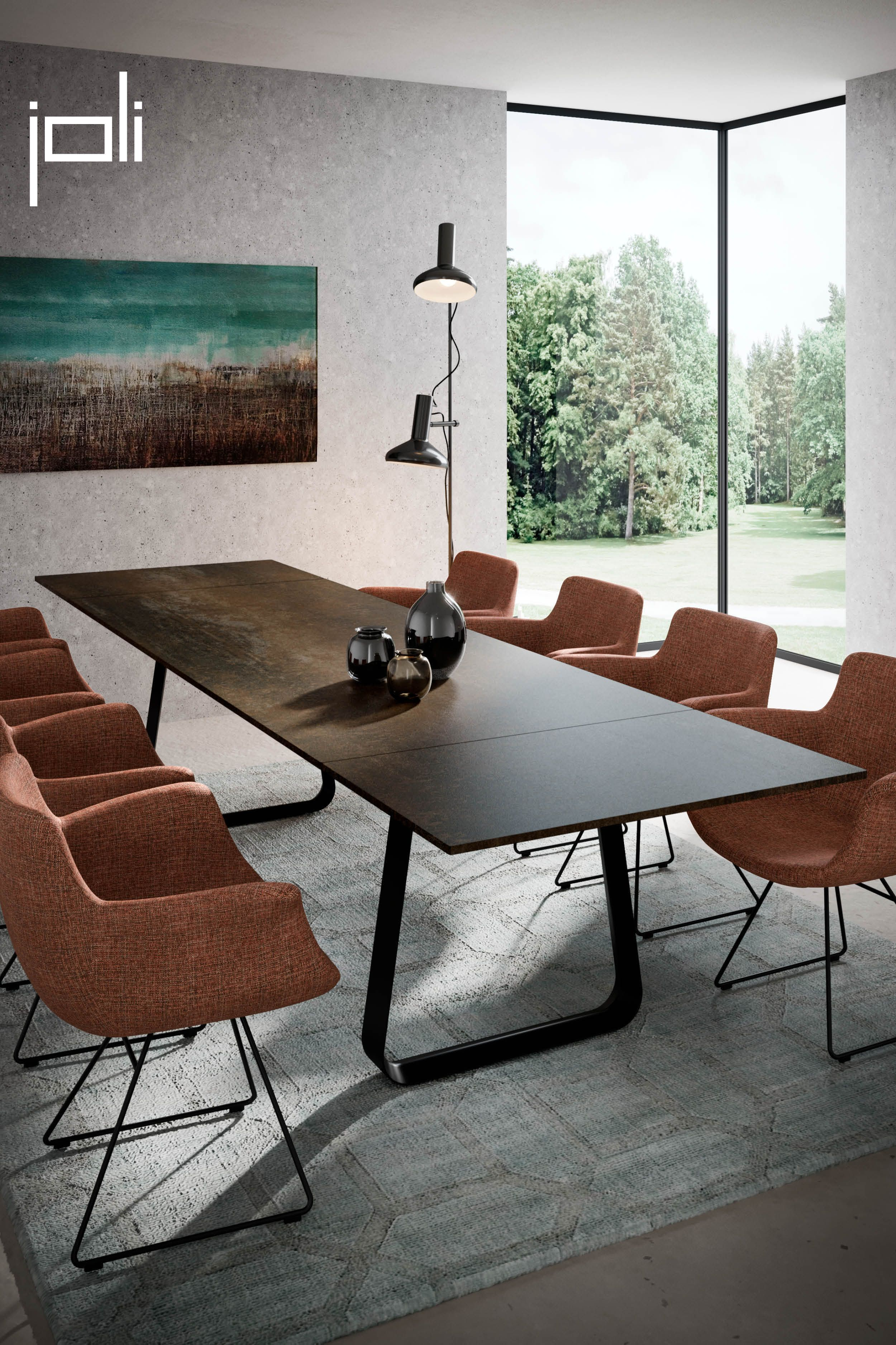 This beautiful Curve table is easy to make bigger. So it never matters if more people stay to eat! #diningtable #extendabletable #table #designtable #chairs #designchairs #comfortablechairs