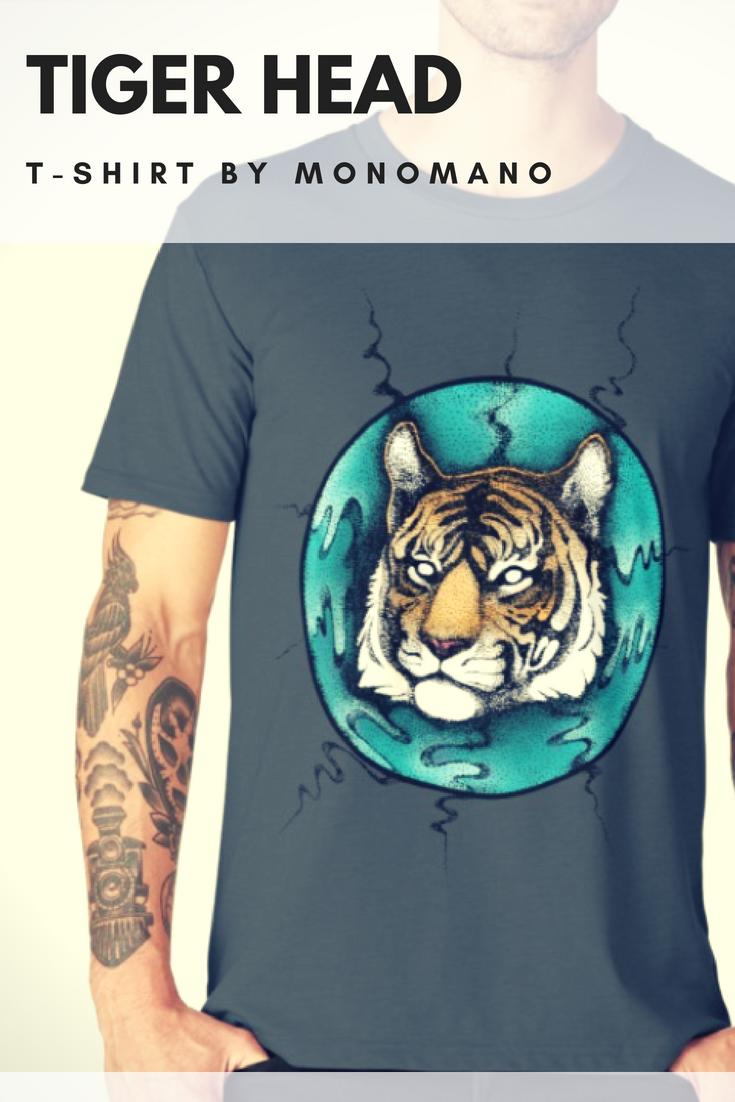 279e87327 #Tiger #portrait #designer #tshirt by #MonoMano #redbubble #artfashion  #fashion #custom #art #artshop #veganartist #merch #drawing #artwork #cool  #apparel ...