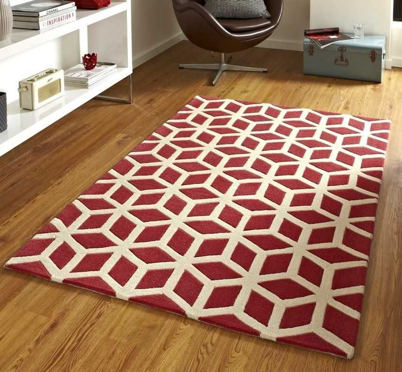 Hong Kong HK-326 Red / Beige Rugs Modern Rugs Fixtures