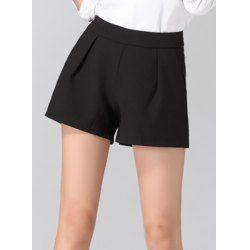 Mid Waisted Solid Color Pocket Design Shorts $10.22