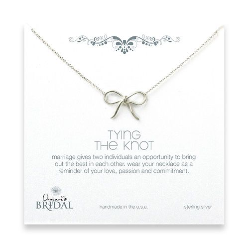 bridal tying the knot sterling silver necklace