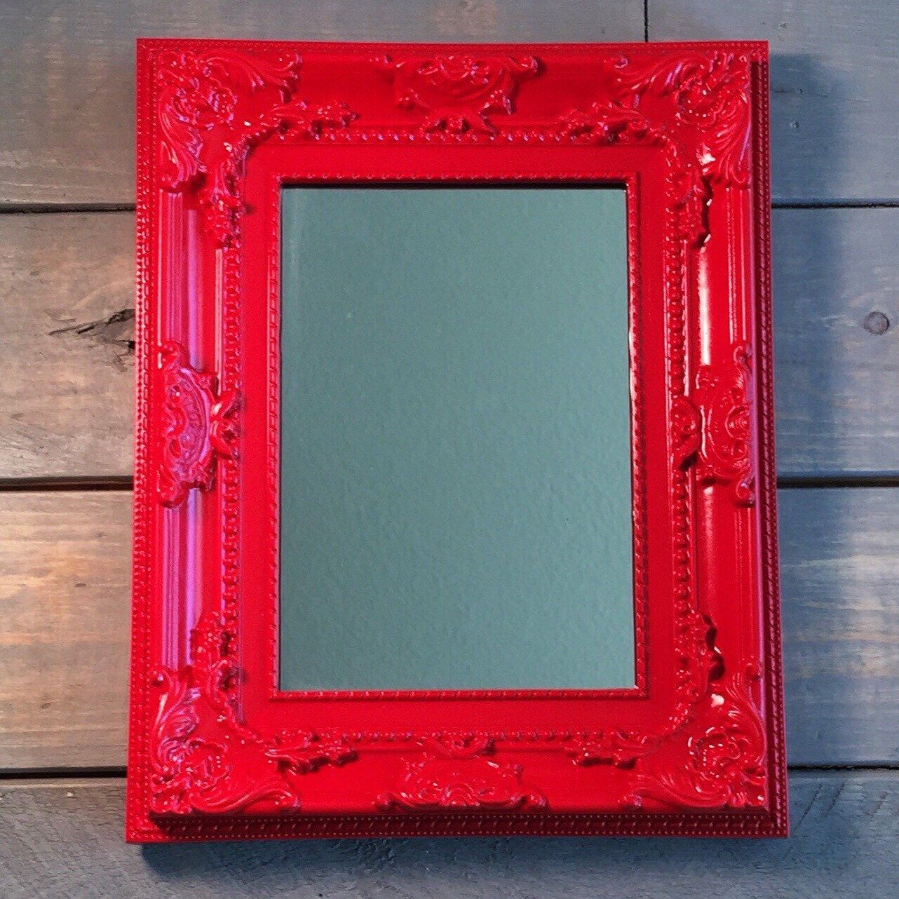 Red Baroque Mirror Wall Mirror Frame Ornate Decorative Wall Mirror