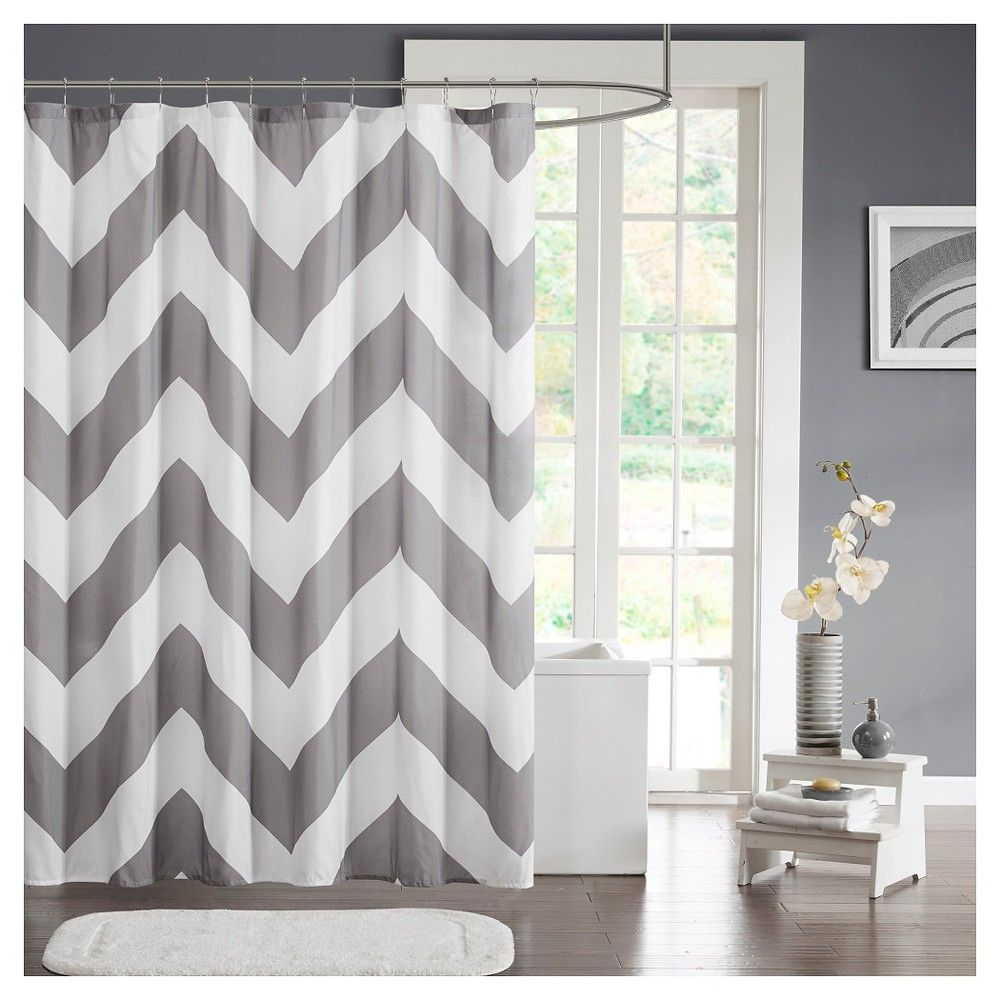 Shower curtain grey x bathroom pinterest products