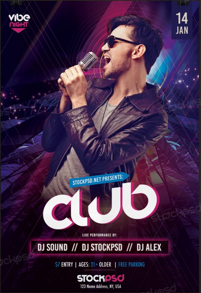Club vibe night free psd flyer template free psd flyer club vibe night free psd flyer template free psd flyer download free psd magicingreecefo Images