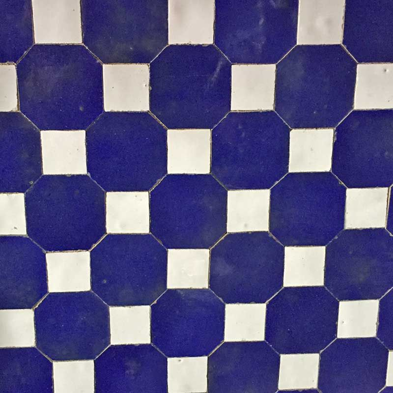 Handmade Decorative Tiles Entrancing Blue And White Handmade Decorative Zelliges Tiles For Floors Design Inspiration