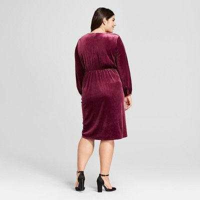 1c5ebc0972 Women s Plus Size Twist Wrap Dress - A New Day Burgundy 4X