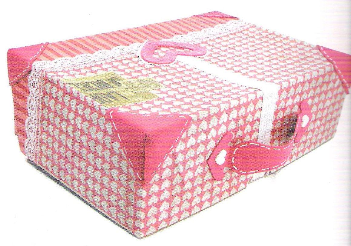 Maleta Hecha Con Caja De Cart N Reciclaje Pinterest Caja De  ~ Cajas De Carton Decorativas Grandes