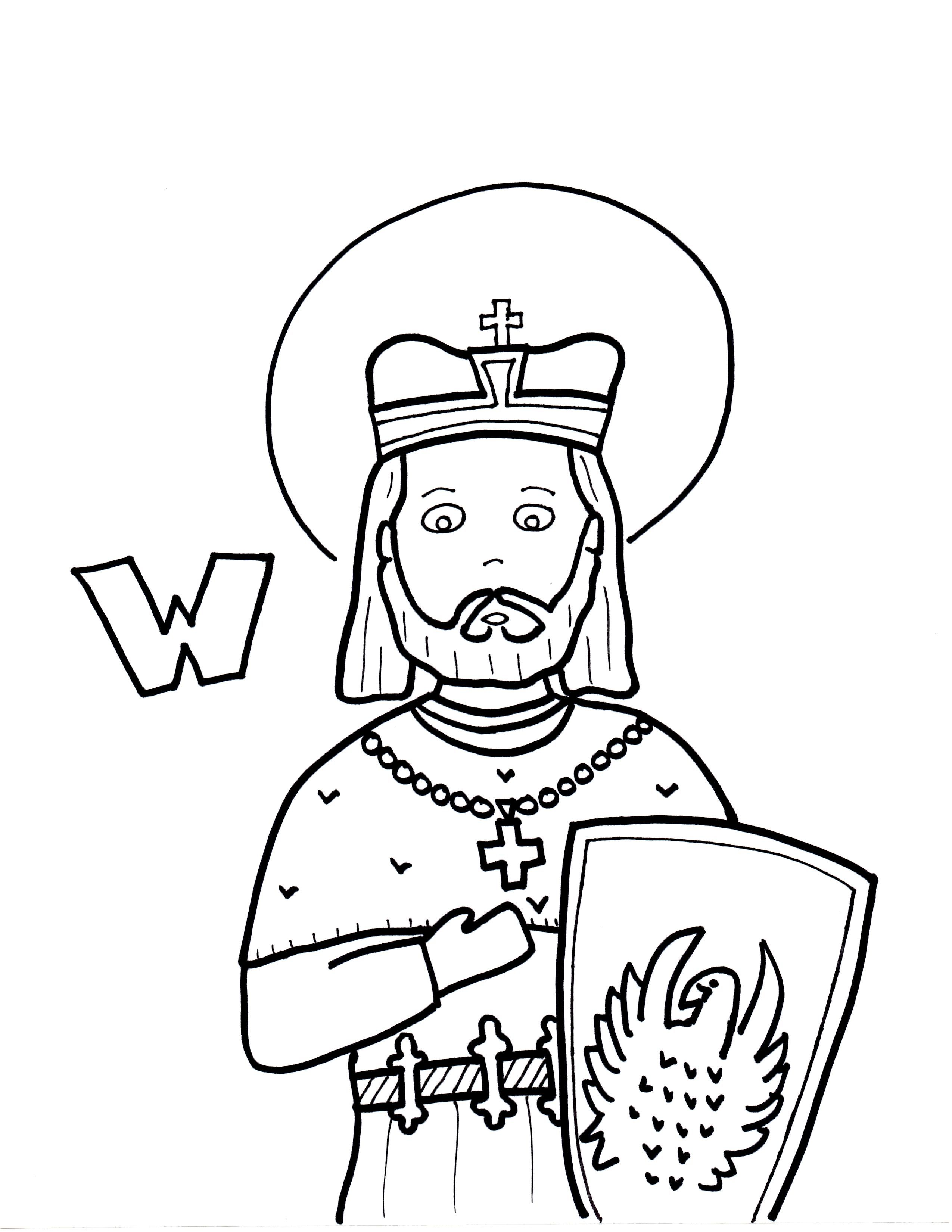 W Is For St Wenceslaus Coloring Pages St Wenceslaus