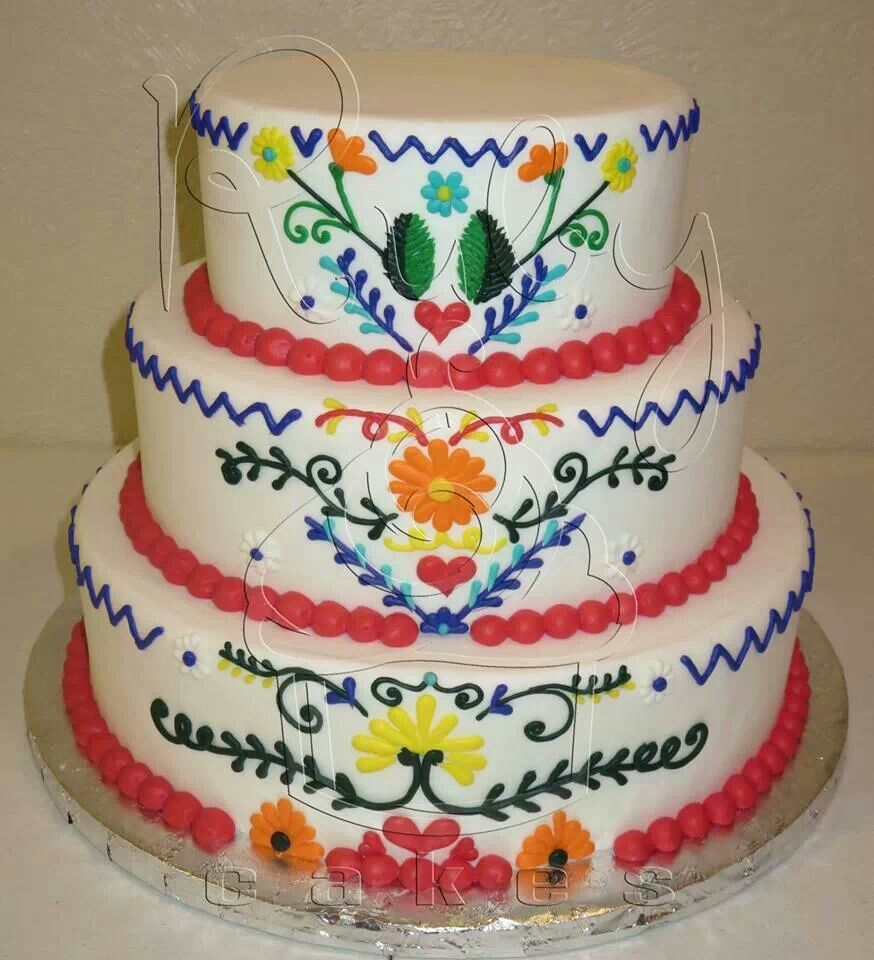 Mexican party cake bolos interessantes pinterest