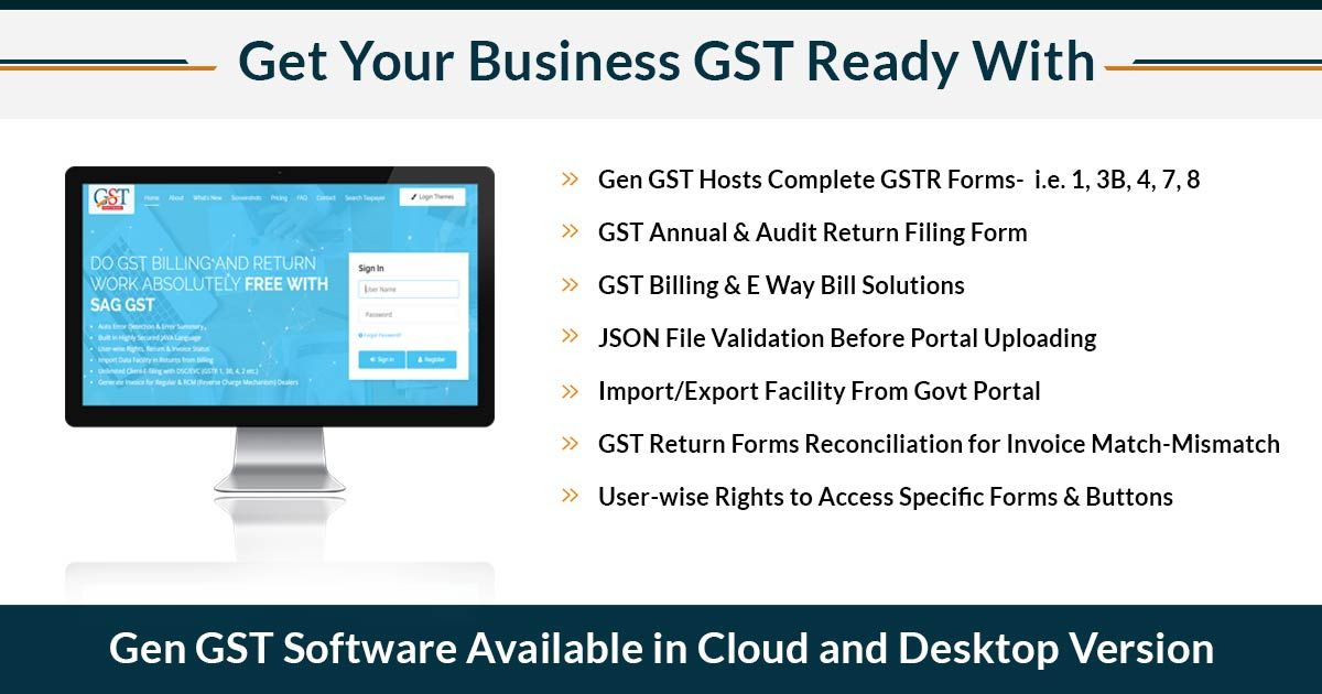 Free Download Gen GST Software FY 2019-20 for E-Filing