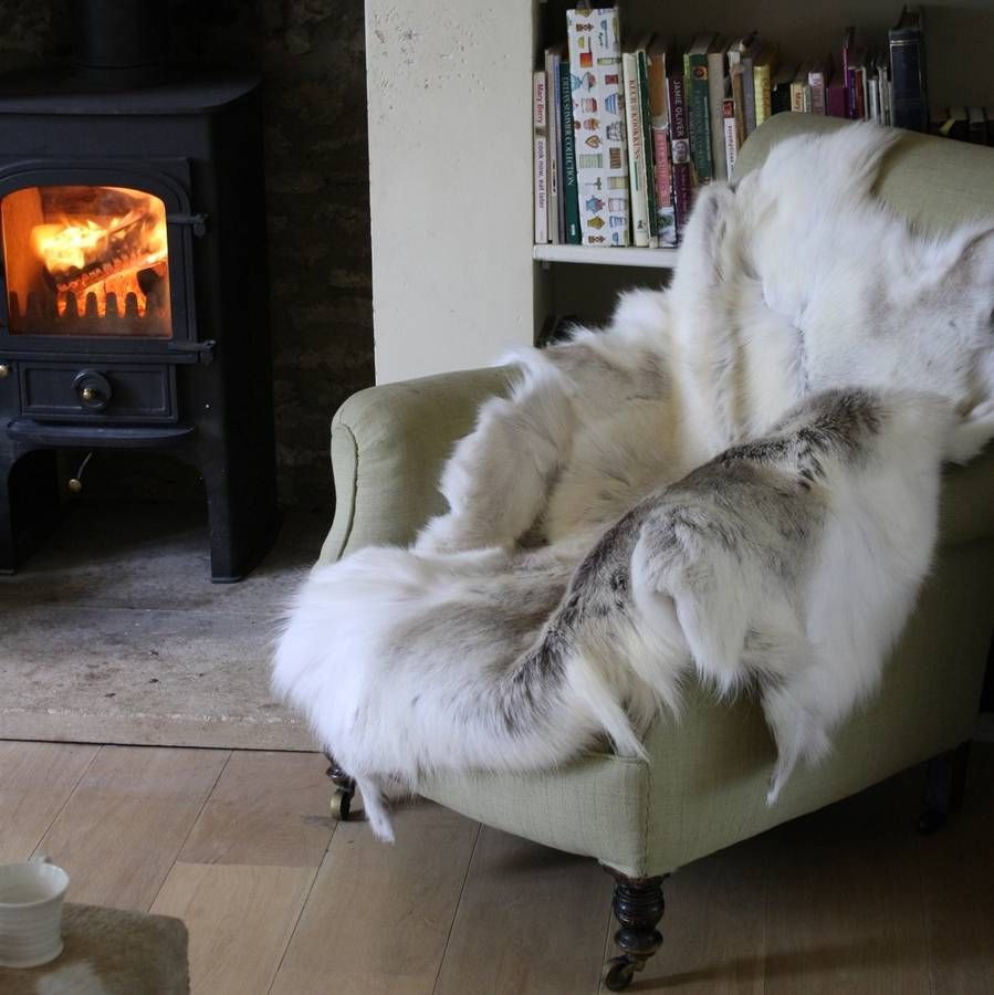 A Beautiful And Luxurious Natural Reindeer Hide Rug.These