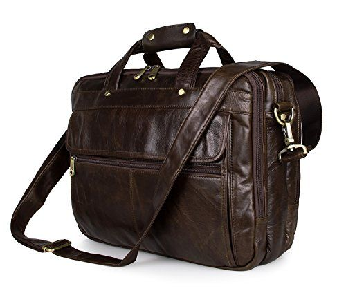 Mens Geniune Leather Briefcase Messenger Shoulder Laptop Bag Tote >>> For more information, visit image link. Note:It is Affiliate Link to Amazon.