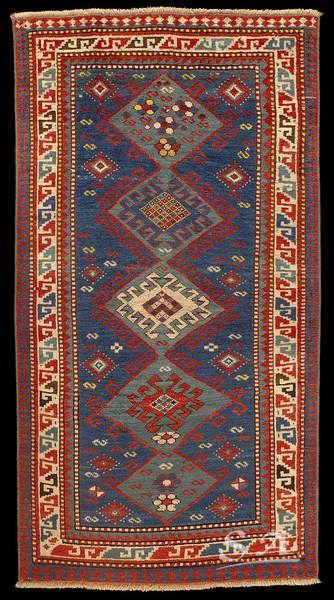 Kazak Bordjalu Caucaso Sud Occidentale Fine Del Xix Secolo Lana Su Lana 175 Rugs On Carpet Carpet Handmade Caucasian Rug