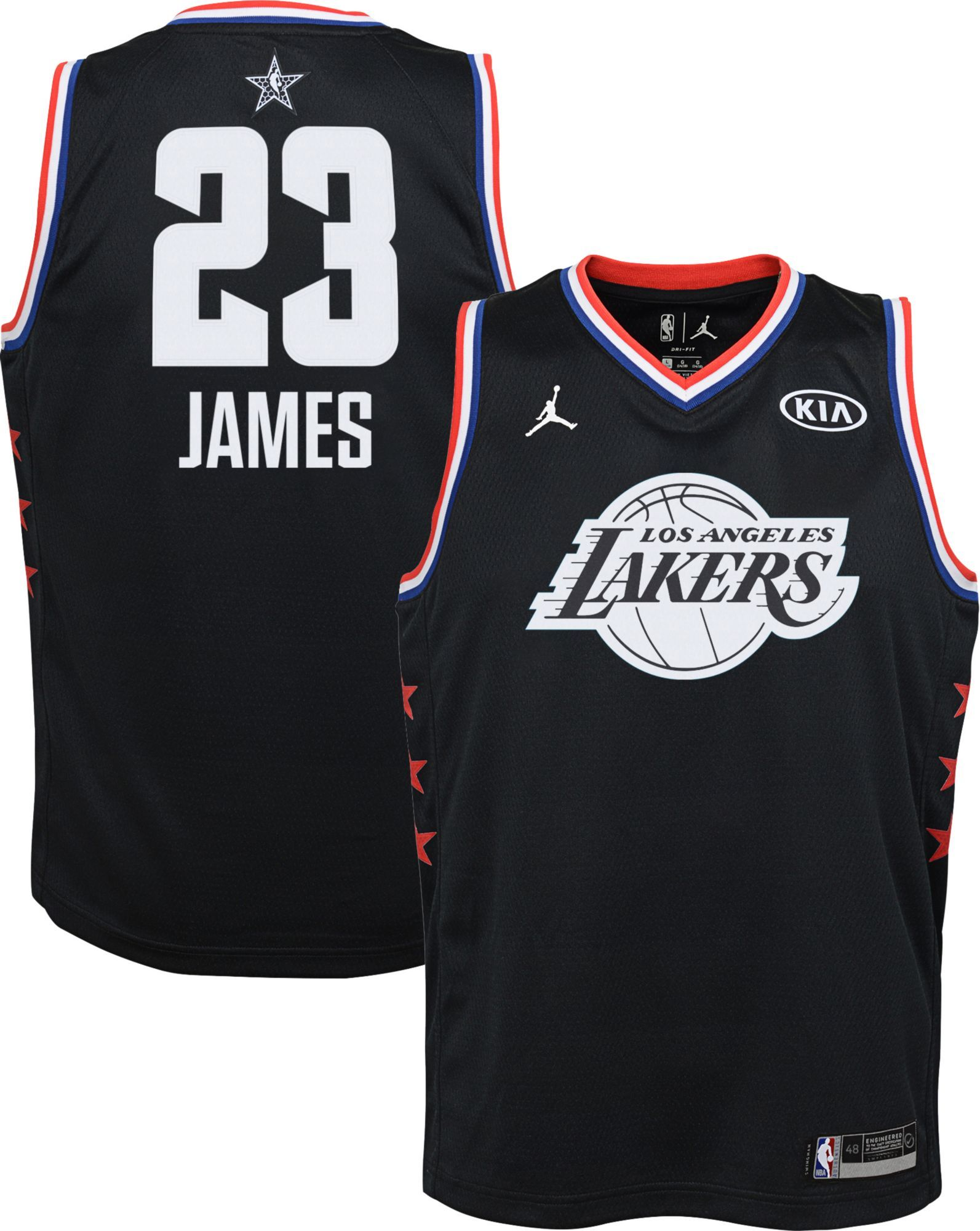 f2a1951db8e Jordan Youth 2019 NBA All-Star Game LeBron James Black Dri-FIT Swingman  Jersey, Boy's, Size: Medium