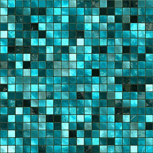 30 Turquoise Self Adhesive Mosaic Wall Tile Decals For