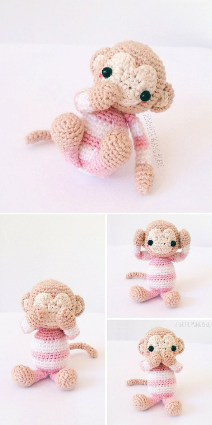 All Free Amigurumi Patterns : Year of the Monkey 2016 FREE Amigurumi Pattern Head to ...