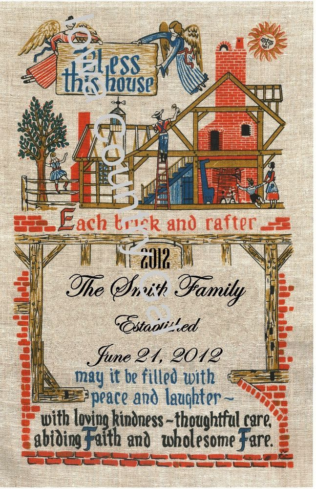 """NEW BLESS THIS HOUSE FAMILY CUSTOM LAMINATED SIGN  8.5"""" X 14"""""""