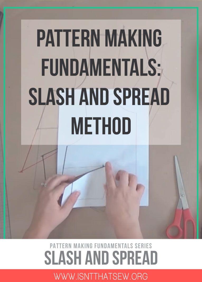 Pattern Making Fundamentals: Slash Method   Nähtipps, Rund ums Nähen ...