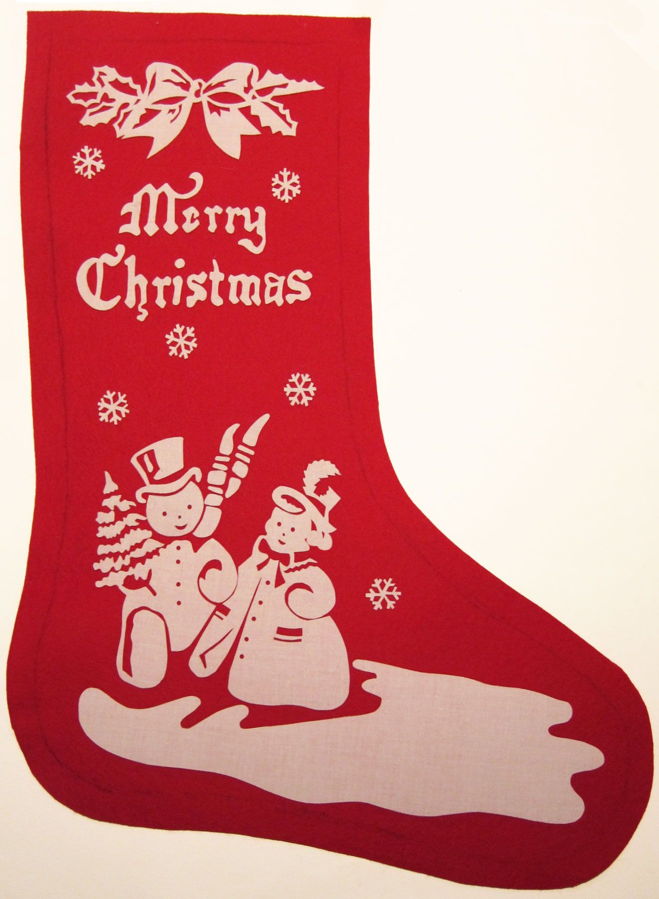 Vintage-Inspired Christmas Stocking **if I am pinning 2x forgive me ...