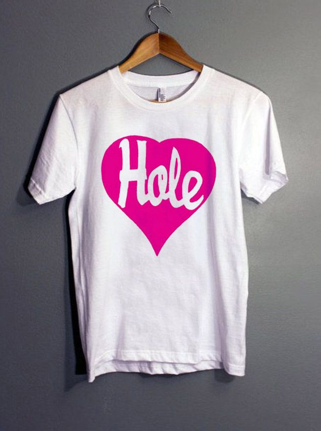 Hole Heart Courtney Love T-Shirt gift Tees adult unisex custom clothing  Size S-3XL