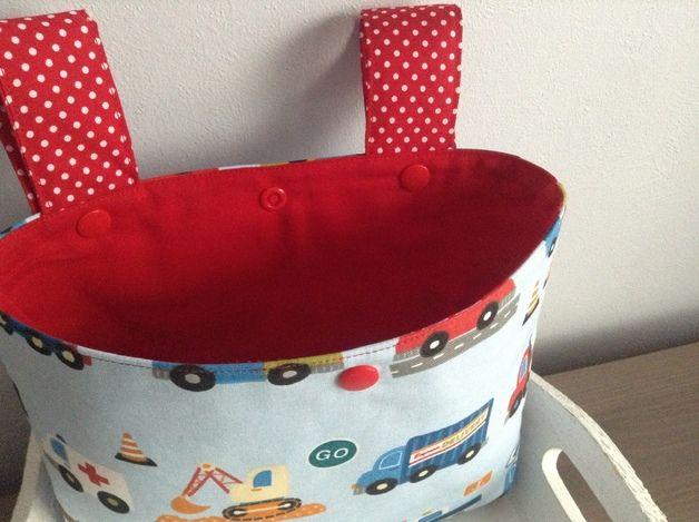 Perfekt für den Zwerg! Lenkertaschen - Laufradtasche Lenkertasche Stoff Auto Bagger - ein Designerstück von Schnuffel-Design bei DaWanda