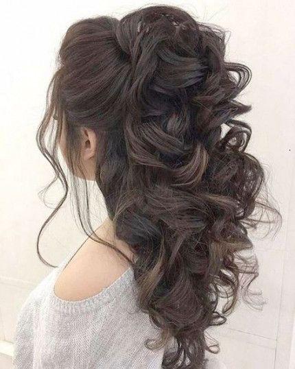 27 Ideas Wedding Hairstyles Half Up Half Down Bun Updo Medium Hair Styles Quince Hairstyles Medium Length Hair Styles