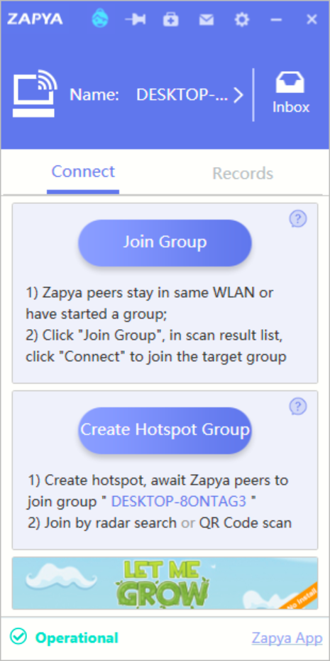 Use #Zapya app to transfer files between two android phones or pc